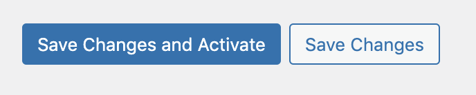 Save Changes and Activate