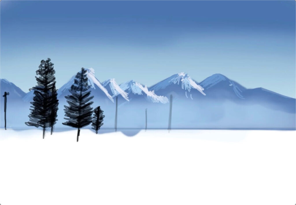 trees-in-front-of-the-mountain